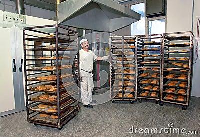 Baking a bread