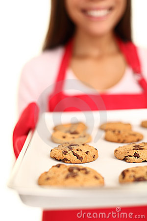 Free Baking Chocolate Chip Cookies Royalty Free Stock Photo - 21071275