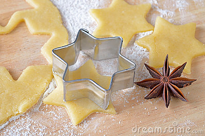 Baking christmas biscuits