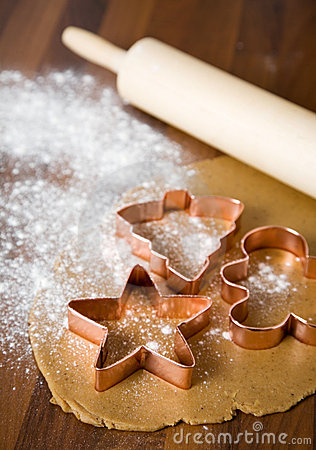 Free Baking Christmas Cookies Royalty Free Stock Photo - 3419875