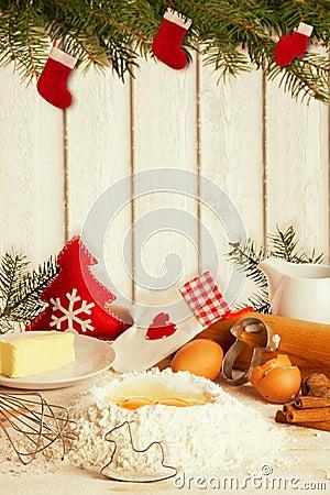 Free Baking Christmas Cookies Royalty Free Stock Image - 58117856