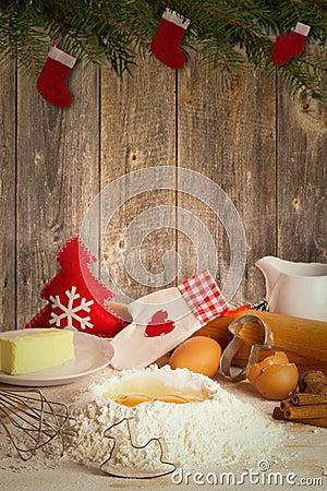Free Baking Christmas Cookies Royalty Free Stock Photos - 58118168