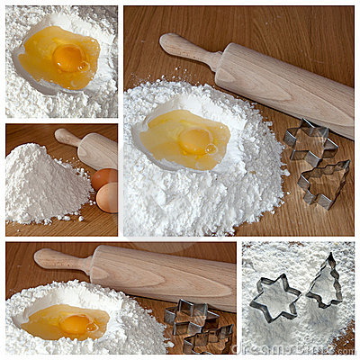 Baking cookies - the collage