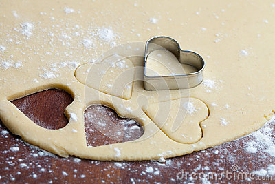 Baking heart cookies