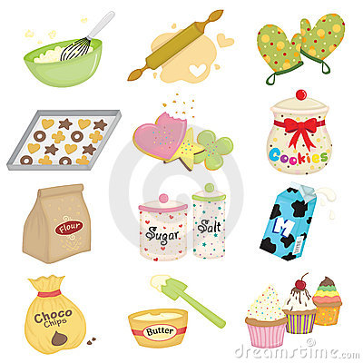 Free Baking Icons Royalty Free Stock Photos - 21525888