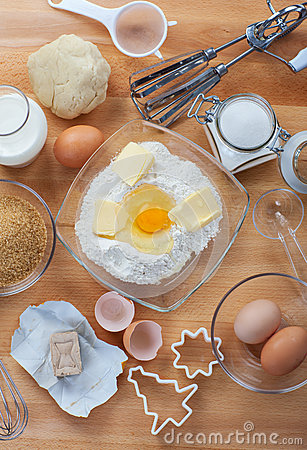 Free Baking Ingredients For Cake And Cookies Royalty Free Stock Photos - 27245578