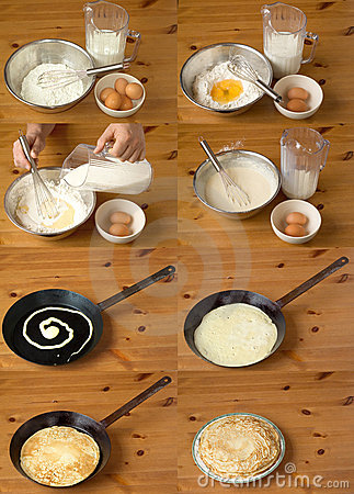 Free Baking Pancakes Royalty Free Stock Photos - 6625288