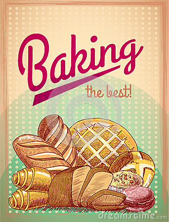 Free Baking The Best Pastry Poster Royalty Free Stock Photography - 39802807