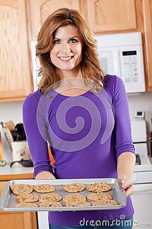 Baking woman