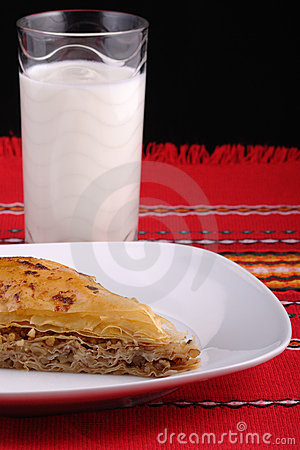 Baklava and ayran