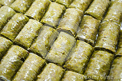 Baklava (dessert made of pastry, nuts, and honey)