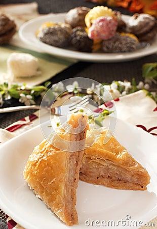 Baklava turco del dessert
