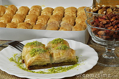 Baklava - turkish dessert -baklawa