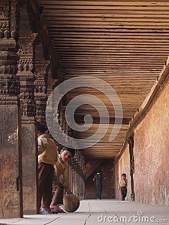 Baktapur, Nepal Redactionele Stock Afbeelding