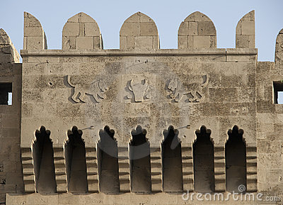 Baku, Bas-relief on old tower