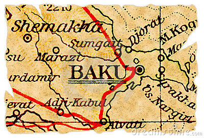 Baku old map
