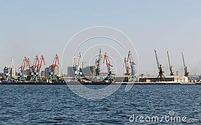 Baku Seaport on Caspian sea