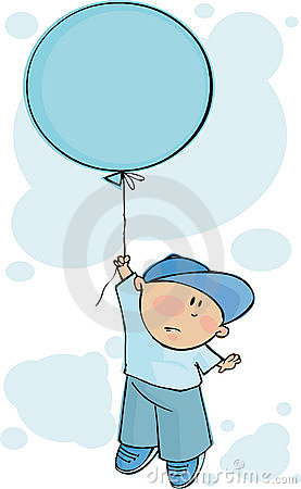 Balão azul