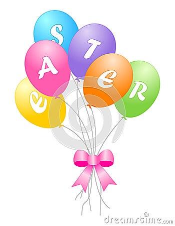 Balões coloridos de easter