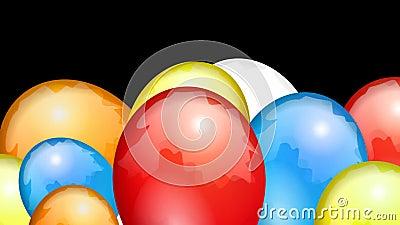 Balões da transição das crianças ilustração do vetor