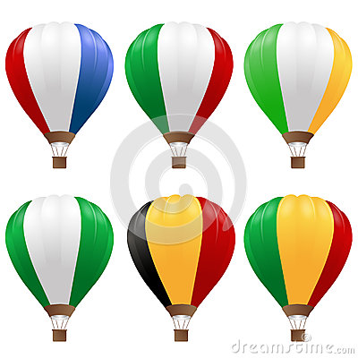 Balões de ar quente ajustados