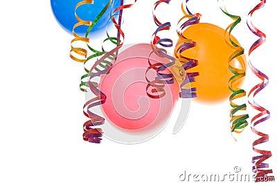 Balões e confetti