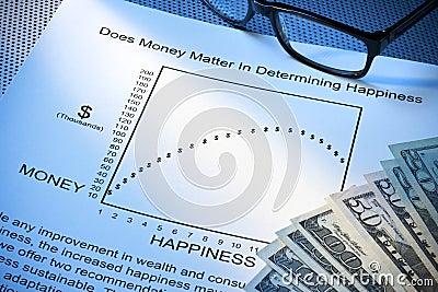 Balanço da vida do trabalho da felicidade do dinheiro