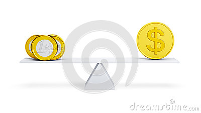 Balance between euro and dollar