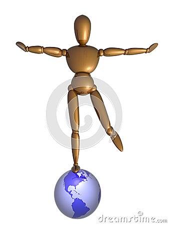 Balance on globe