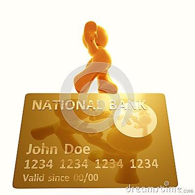 Balance walking on a credit card