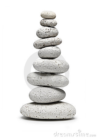 Free Balance White Stones Isolated Royalty Free Stock Photos - 10608768