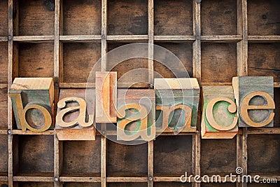 Balance word in wood type
