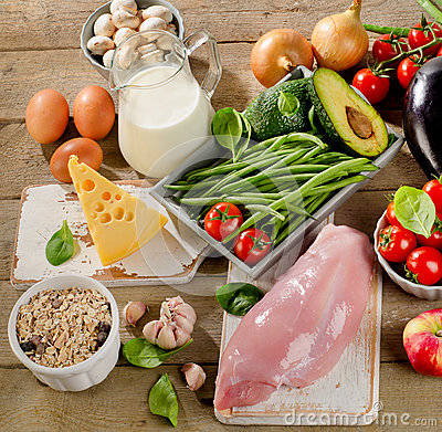 Free Balanced Diet, Cooking And Organic Food Concept Stock Images - 66122284