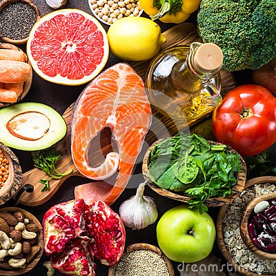 Free Balanced Diet Food Background. Royalty Free Stock Image - 107576946