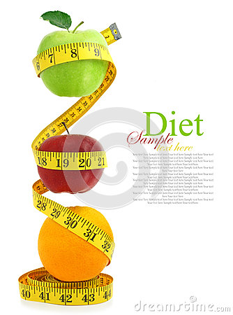 Balanced diet with fruits