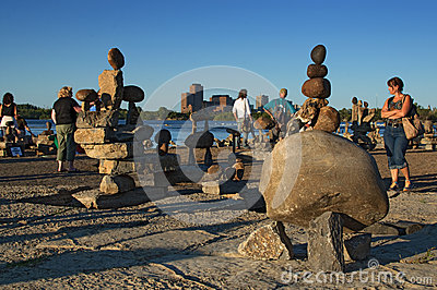 Balanced Rock Art Festival Editorial Stock Image