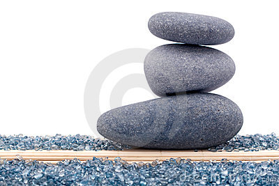 Balanced rocks or zen stones