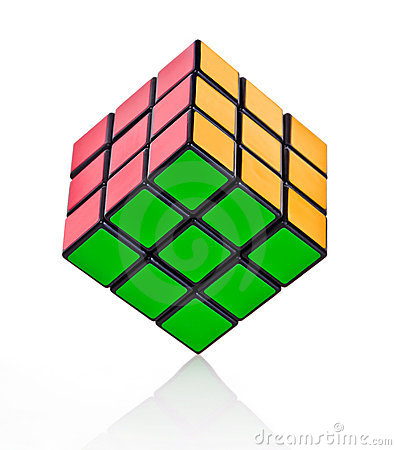 Balanced Rubik´s cube Editorial Image