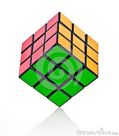 Balanced Rubik´s cube Editorial Image