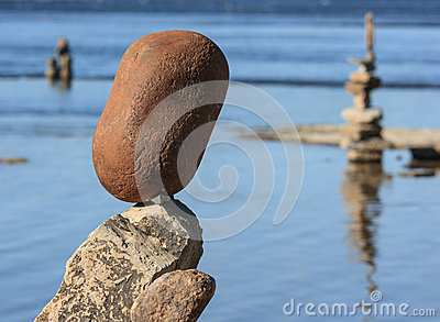 Balanced Stones at Festival Editorial Stock Image