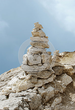 Balanced tower of rocks