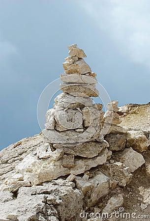 Balanced tower of rocks