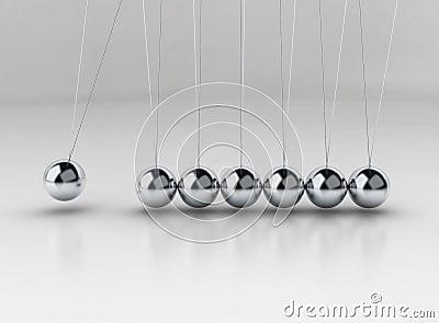 Balancing balls Newton s cradle