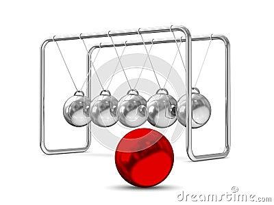 Balancing balls on white background