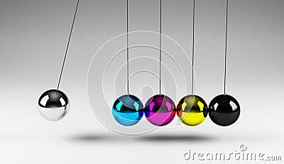 Balancing cmyk balls