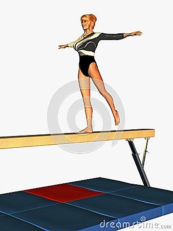 Balancing Gymnast