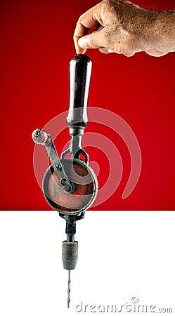 Balancing handheld drill