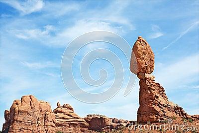Balancing rock daytime