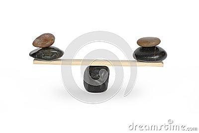 Balancing Stones On Seesaw