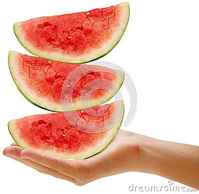 Balancing watermelons